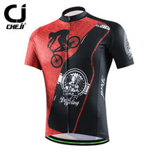 Devil Red Cycling Jerseys Cheji Men Cycling Shirts Anti-slip Bicycle MTB Jackets Breathable S-XXXL 2017