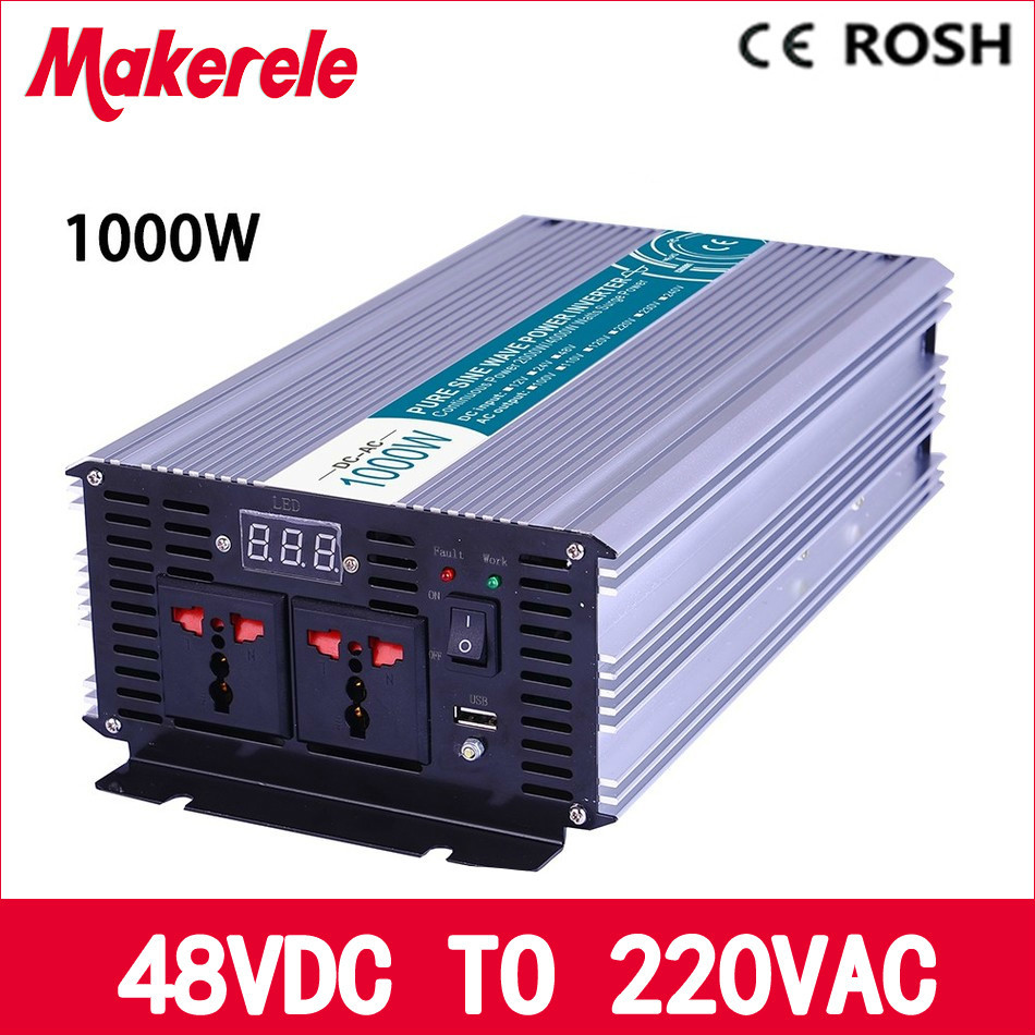 цена на MKP1000-482 48v to 220vac power inverter 1000w off grid inverter pure sine wave voltage converter,solar inverter LED Display