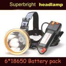 2018 nuevo faro potente Super brillante L2 linterna recargable cabeza LED lámpara para pesca de caza