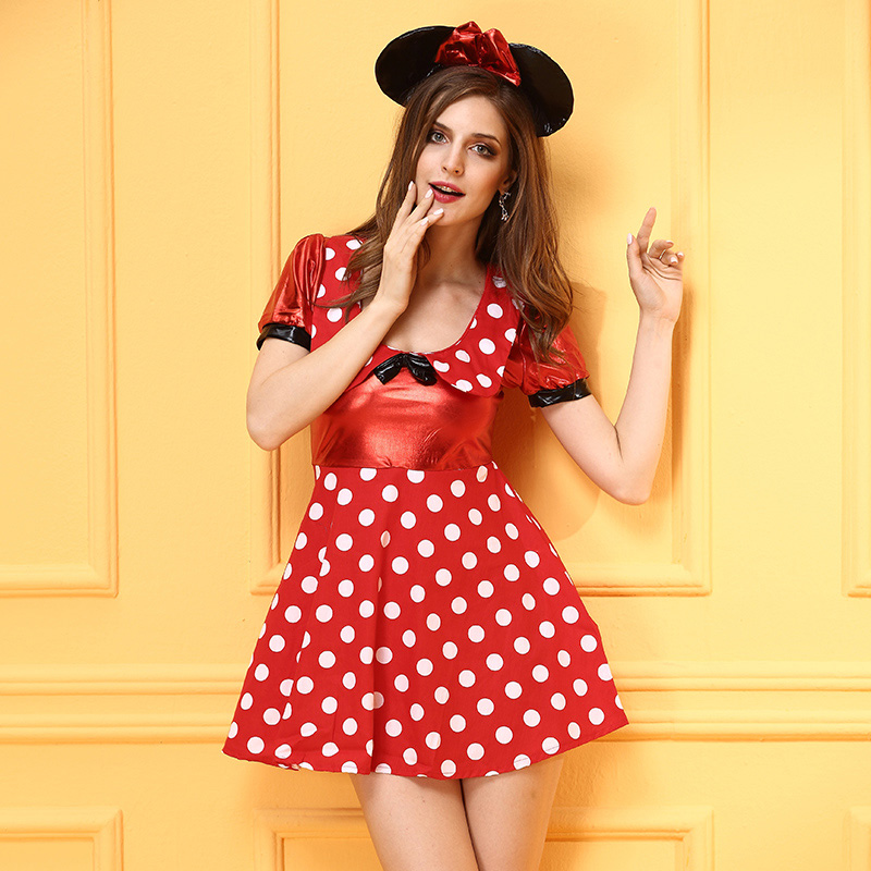 Fancy Halloween Lovely Minnie Mouse Costume Adult for Women Night Club Cosplay Fantasy Wholesale Performance-in Sexy Costumes from Novelty u0026 Special Use on ...  sc 1 st  AliExpress.com & Fancy Halloween Lovely Minnie Mouse Costume Adult for Women Night ...