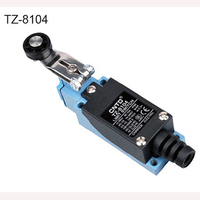 TZ 8104 CNTD IP40 Rated 250V 10A Roller Lever Standard Plastic Roller Limit Switch 8104