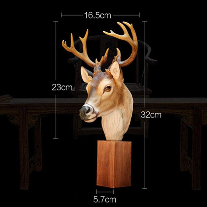 Nowy przyjazd!! Unikalny produkt elegancki Deer ozdoby głowy ełk dekoracja żywica akcesoria do domu symulowane zwierzę najlepszy prezent w Figurki i miniatury od Dom i ogród na  Grupa 3
