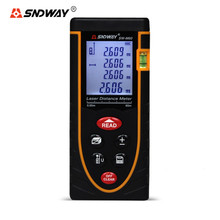 Best Buy SNDWAY 40M 60M Laser Rangefinder Distance Meter Handheld Digital LCD SW-M40 M60 Calibration Length/Area/Volume Tape Measure Tool