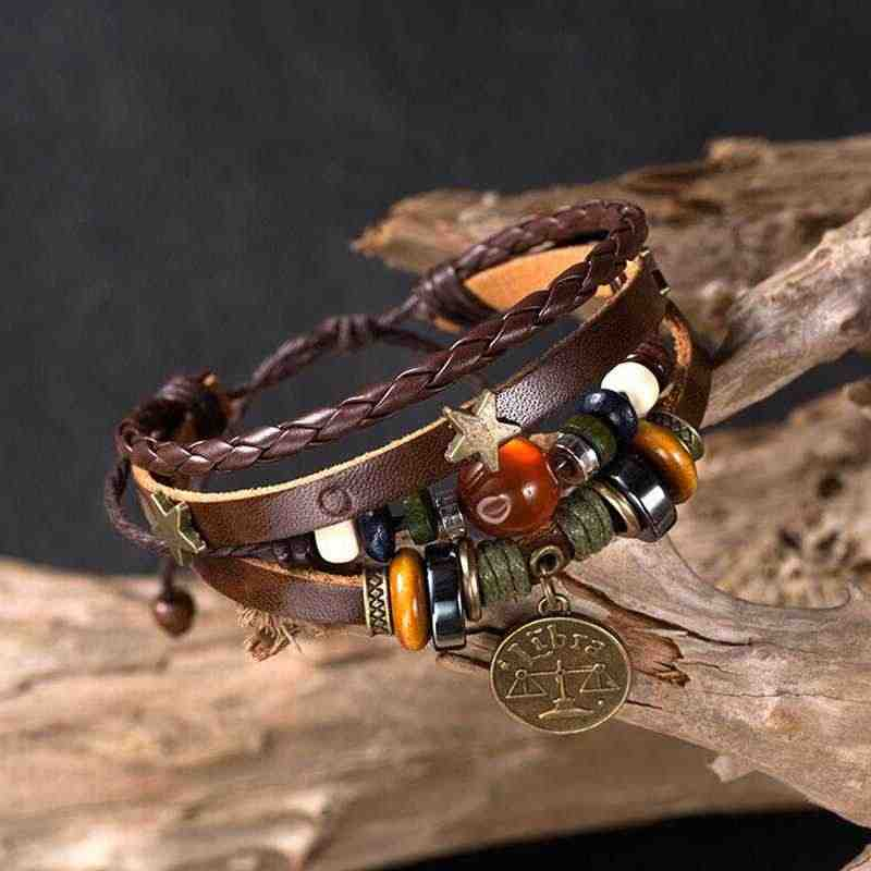 Wholesale Cheap Simple Creative Alloy Fashion Couple Bracelet Bracelet Jewelry Men Accessories Elegant Constellation Gift Retro