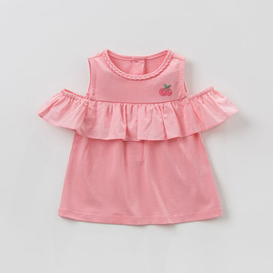 Image 3 - DBZ10529 dave bella summer baby girl clothes infant toddler sleeveless T shirt children boutique tops kids lolita tees