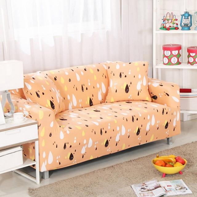 Soild Farbe Spandex Stretch Hussen Sofa Abdeckung Geometrische