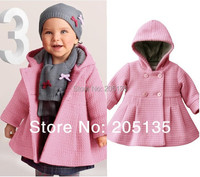 2016 Moda Bahar Sonbahar Bebek sıcak ceket Yürüyor çocuk sevimli kapüşonlu palto jakarlı kapitone ceket Pembe Kırmızı giyim