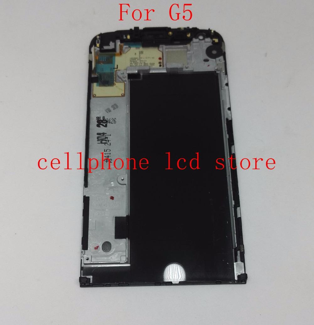 Prix pour Pour LG G5 H850 H830 H840 Lcd Écran + Écran Tactile Digitizer + Cadre Assemblée remplacement Pantalla noir