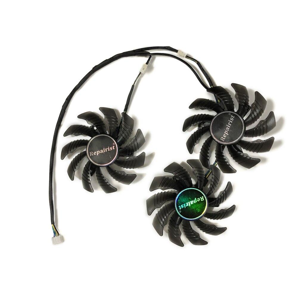 Купить с кэшбэком GTX1060 GTX1070 GTX1080Ti 75mm GPU VGA Cooler Cooling Fan For GIGABYTE GTX 1080/1080Ti/1070Ti/1060 Video Cards As Replacement