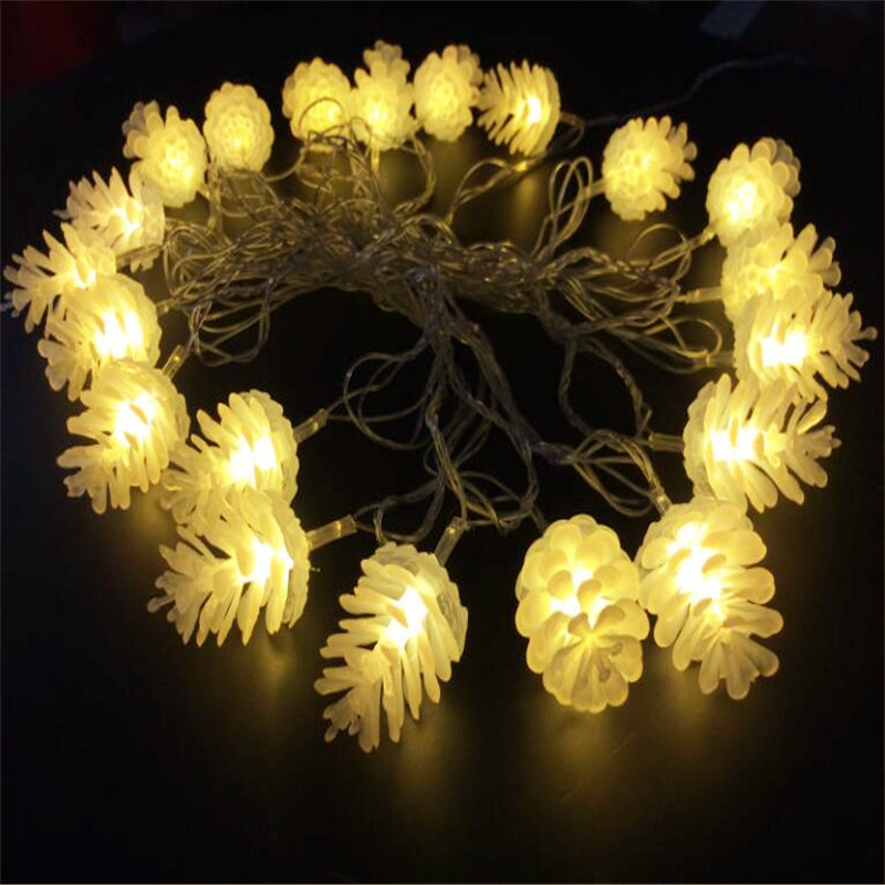 4M / 20leds Colourful Modeling LED String Pinecone - Мерекелік жарықтандыру - фото 5