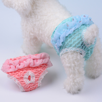 Breathable Lace Pet Dog Menstruation Underwear Small Dog Physiological Pants Girle Fmale Dog Briefs Clothes