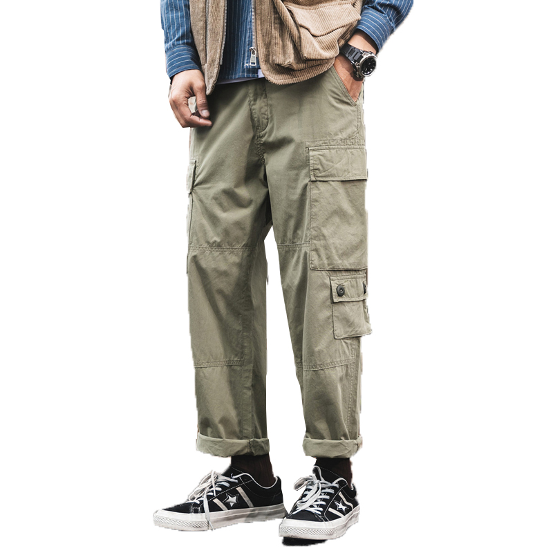 2019 Cargo Pants Men Tactical Military Pants Army Combat Clothes Male Baggy Casual Multi Pocket Work Overalls Trousers 28-42