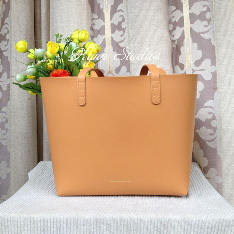 Image 4 - MANSURSTUDIOS women leather  tote bag,mansur gavriel  lady real leather beach bag, ladies hand bags, free shipping-in Top-Handle Bags from Luggage & Bags