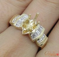 5x10mm Marquise Solid 14k Yellow Gold 0 51ct Natural Diamond Semi Mount Ring Wholesale Ring