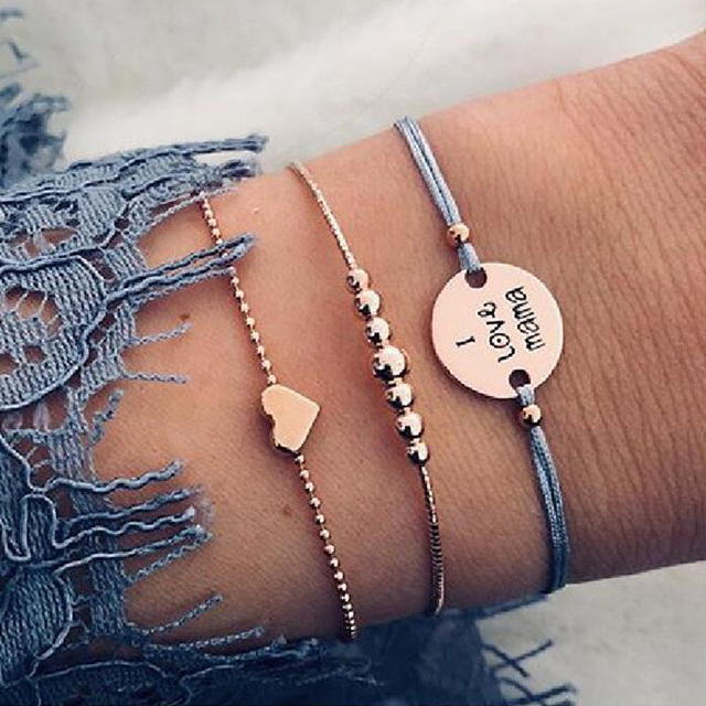30 Style Boho Bangle Elephant Heart Shell Star Moon Bow Map Crystal Bead Bracelet 2