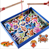 32PCS Wooden Magnetic Fishing Games Children Kids Double Pole Early Education Intelligence Developing Puzzle Toys Gift