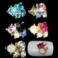 1 PC Jóia Da Liga de Strass Para Nail Art Unhas Decorações Chegam Novas Multicolor Rhinestone Glitter Nail Art Cristal VB262 P45