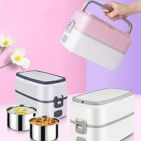Mini Portable Electric Heating Lunch Box Sealed Food Warmer Bento Container Dinnerware Food Storage Lunchbox Set Dropship
