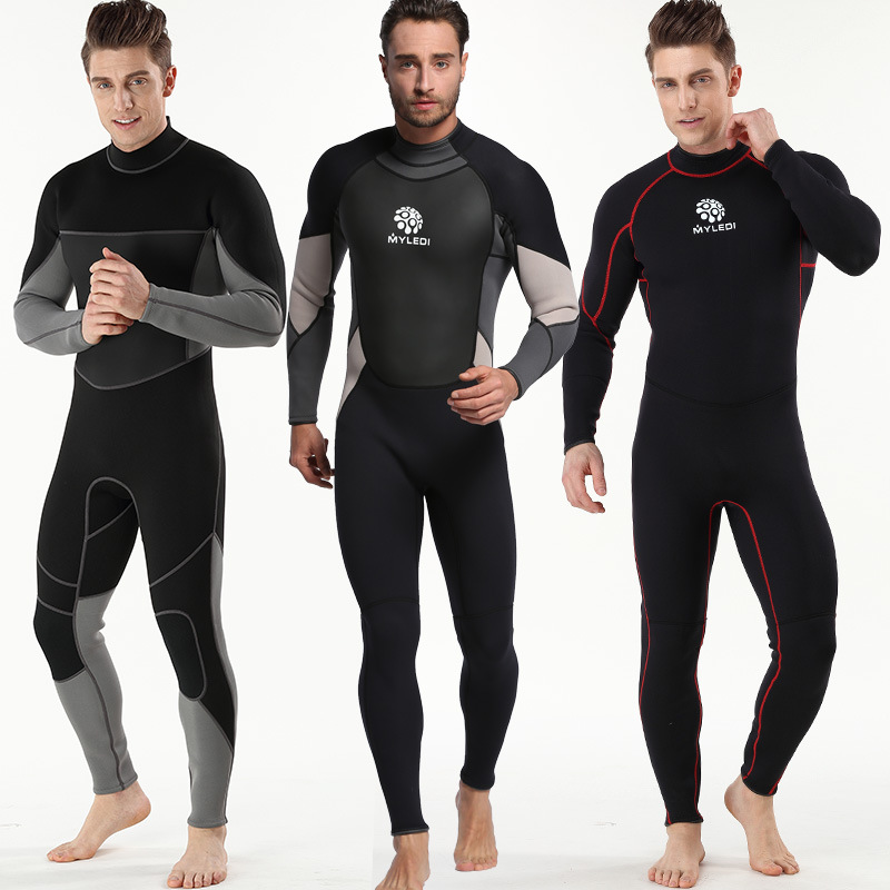 3mm Men Wetsuit Full Body Diving Swimming Surfing Spearfishing Wet Suit UV Protection Snorkeling Surfing Swimming