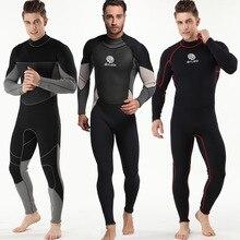 3 мм Для Мужчин гидрокостюм всего тела дайвинг плавание серфинг костюм для подводного плавания УФ-защита Подводное Плавание Серфинг Плавание погружения костюм