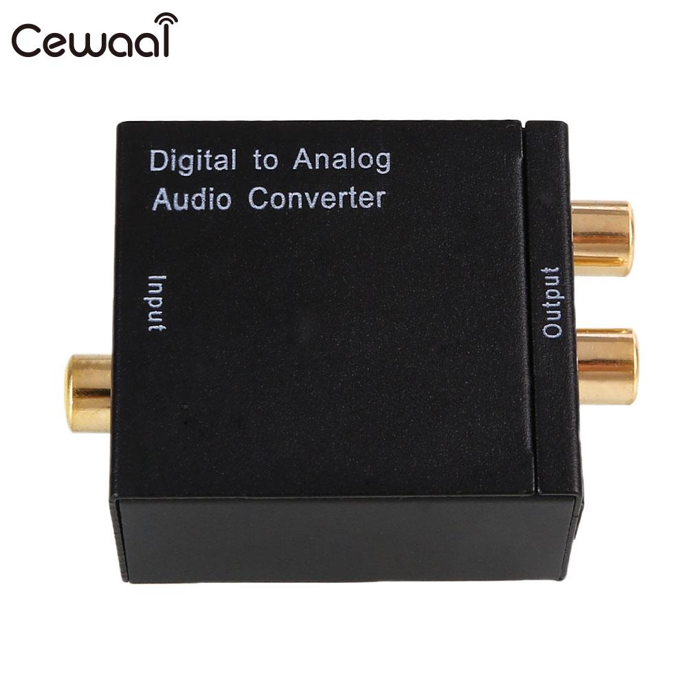 Digital Optical Coax To Analog RCA Audio Converter USB Power Line Fiber Cable Portable
