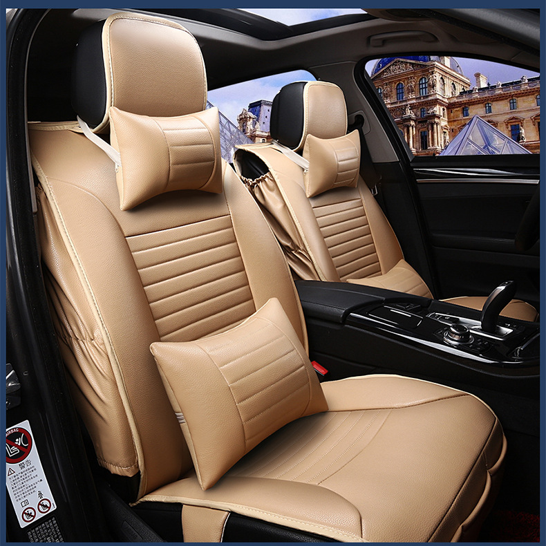 for NISSAN Paladin QASHQAI X-TRAIL Murano Altima beige black firm soft pu leather waterproof front and rear full car seat covers