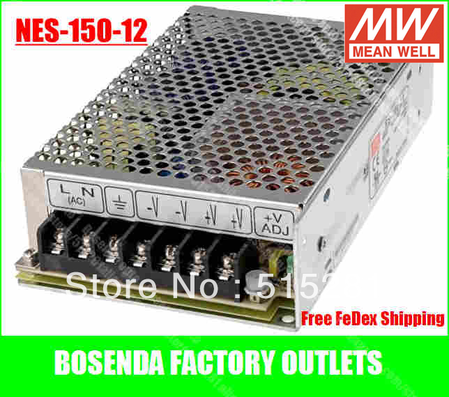 ФОТО 20pcs/pack Original Taiwan Mean well Switching Power Supply NES-150 watts12V/5V/15V/24V/48V Meanwell driver never die!