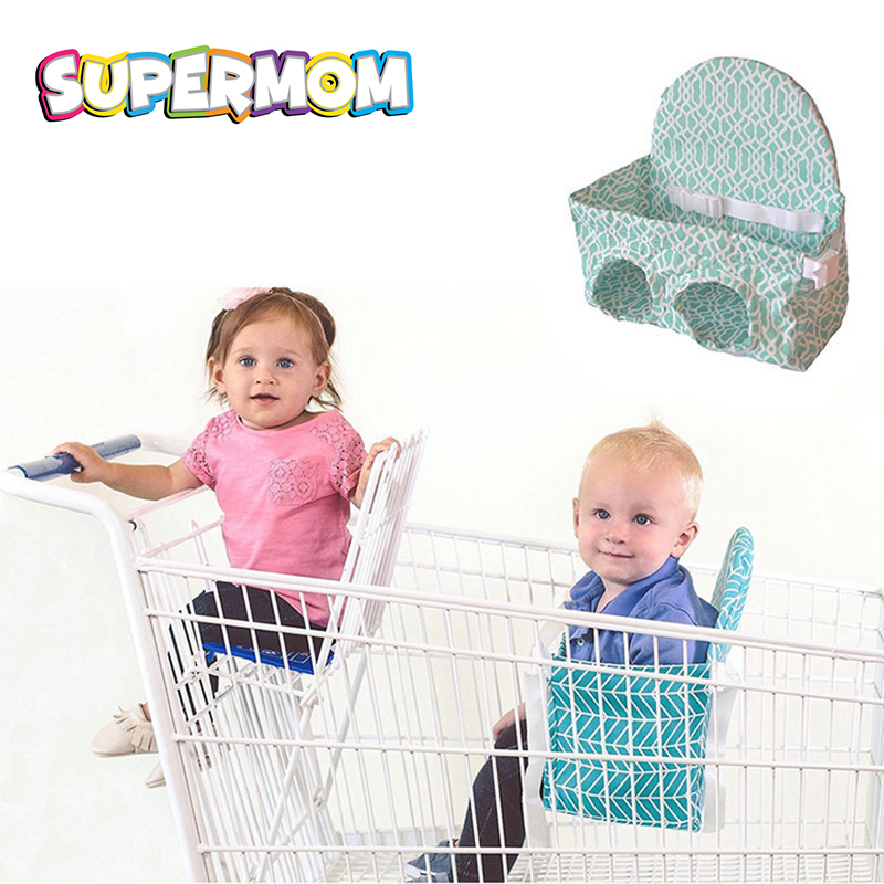 Child Baby Portable Shopping Cart Seat Chair Cover High Chair Seat Pad Anti-Falling Fixed Safety Seat Cushion Mat Protection Kid