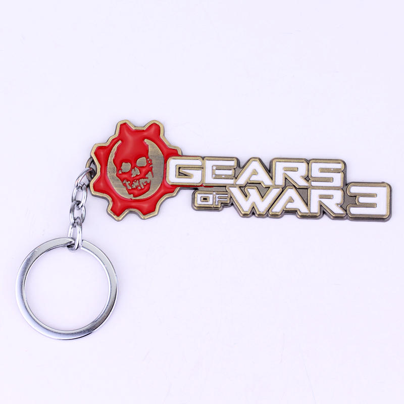Gears Of War 3 Letters Mark Pendant keychain For Women Men Game Punk Cartoon Jewelry Car Gifts