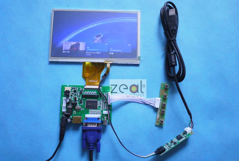 DIY 7 INCH TFT LCD +TOUCH SCREEN+ HDMI VGA 2AV A/D Board 800*480 Resolution CAR PC Display Screen for Raspberry pi 3 5 inch touch screen tft lcd 320 480 designed for raspberry pi rpi 2