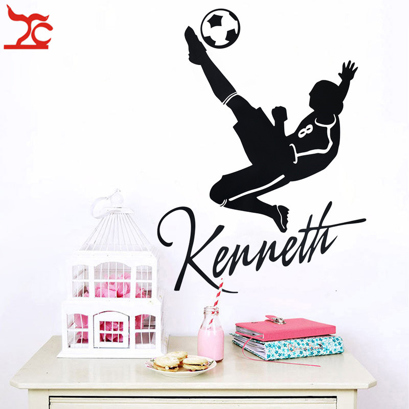 Large Football soccer  Wall Sticker for kids boys rooms Living room Bedroom decoration Mural wall Art Poster Decal