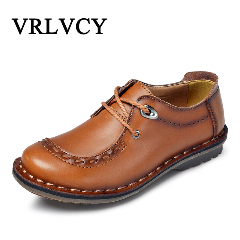 Brand Men Shoes Spring Autumn Fashion Genuine Leather Casual Shoes Breathable Loafers Flat Men Shoes pamasen new spring autumn lace up mens loafers fashion breathable men casual genuine leather shoes designers moccasins men shoes
