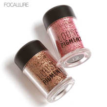 FOCALLURE Newest 12 Colors Glitter Metallic Eye Shadow Cosmetic Makeup Luminous Diamond Lips Loose Makeup Eyes Pigment Powder(China)