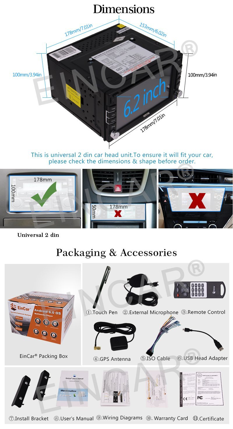 hight resolution of android 6 0 car stereo in dash navigation gps car radio 2 din vehicle dvd player fm radio obd2 wifi mirrorlink reversing camera in car multimedia player