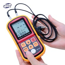 GM130 Digital Ultrasonic Thickness Gauge Metal Testering Measuring Instruments Sound Velocity Meter LCD display