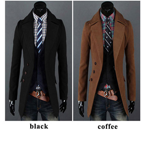 Aliexpress.com : Buy 2014 Fashion Mens Long Wool Coats Men Casual ...