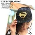 Новые Приходят Мода Gorras Planas Хип-Хоп Супермен Snapback Caps шляпы Для Мужчин Женщины Лето Повседневный Открытый Бейсболка Папа шляпа