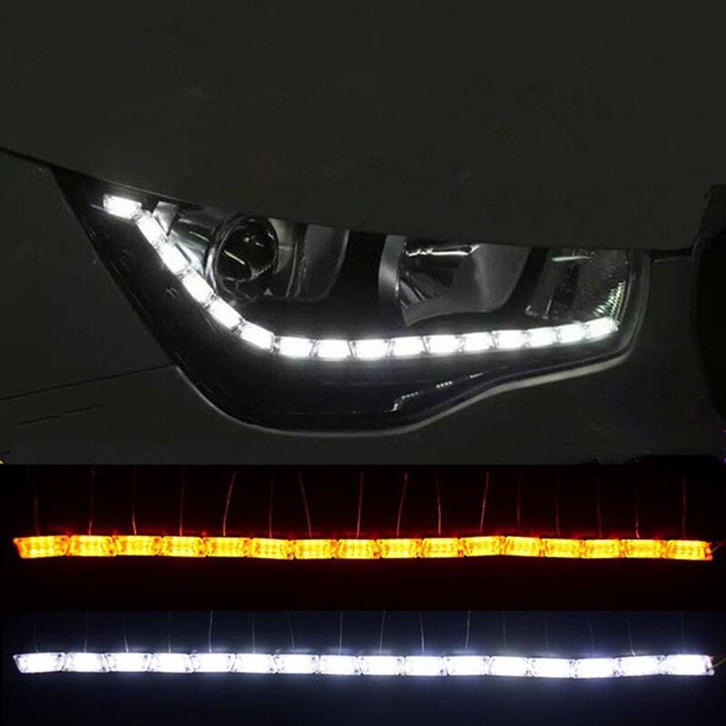 2x Car Flexible Switchback font b LED b font Knight Rider font b Strip b font