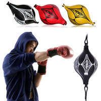Double End Boxing Punching Bag Speed Ball Leather Focus Training Fitness Sports Equipment Punch Workout Bag