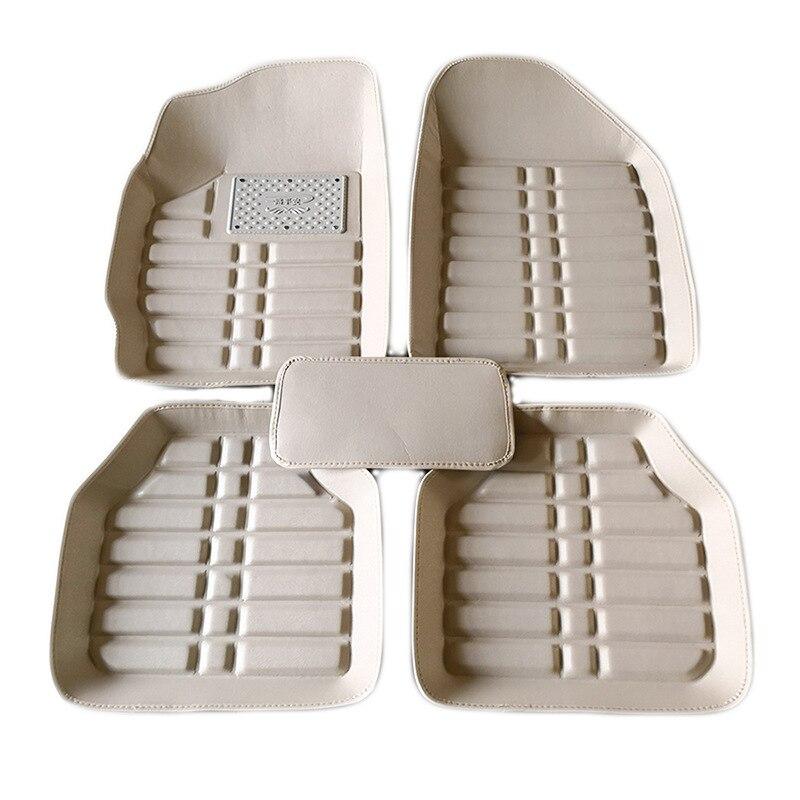 5 pièces tapis en cuir de voiture tapis de sol universel Auto tapis de sol conduite gauche Premium coussin de pied universel pour la plupart des modèles de voiture