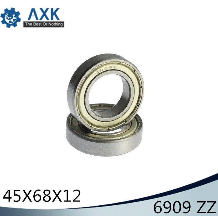 6909ZZ roulement ABEC-1 (5 pièces) 45x68x12mm Section mince 6909 ZZ roulements à billes 6909Z 61909 Z
