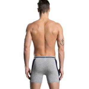 Image 5 - 4 יח\חבילה ארוך Boxershorts תחתוני גברים של מתאגרפים תחתונים סקסי Homme Calzoncillos Hombre Heren זכר תחתוני במבוק גבר Cuecas