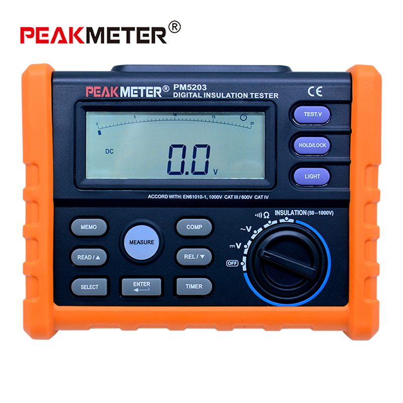 MS5203 Digital Insulation Resistance Meter Tester Multimeter Megohm Meter 0.01-10G ohm HV meter vs FLUKE F1520 zw waist hanged stainless steel keychain red copper max bearing 25kg