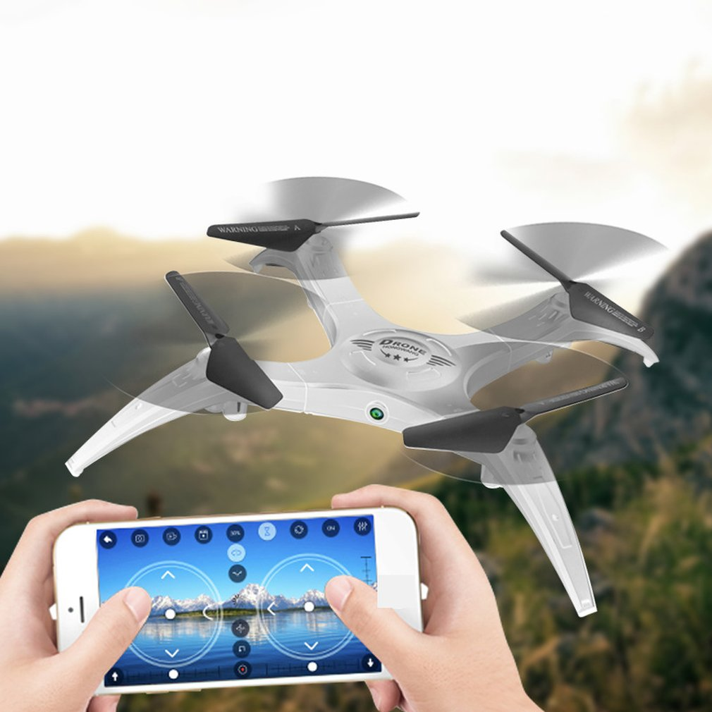 HW7016 2.4G 4CH Mini Portable 2MP Camera RC Drone Altitude Hold Wi-Fi FPV RC Quadcopter One Key Return Remote Control Helicopter(China)