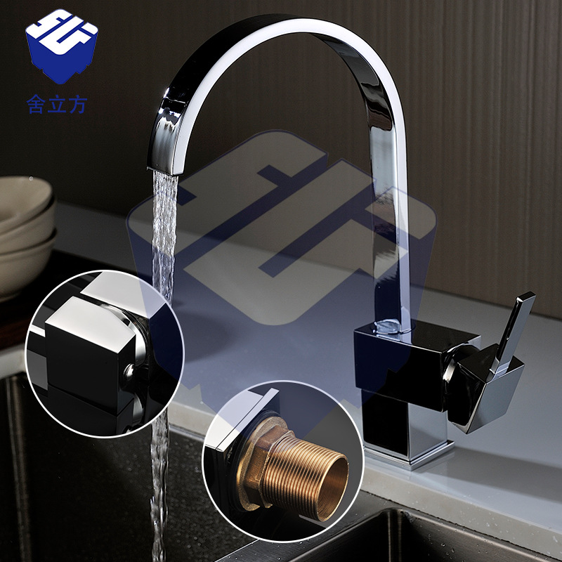 Waterfall Kitchen Faucets Brass Polished Silver Bathroom Faucet Square Single Handle Single Hole Sink Taps Hot Cold Deck MountedWaterfall Kitchen Faucets Brass Polished Silver Bathroom Faucet Square Single Handle Single Hole Sink Taps Hot Cold Deck Mounted