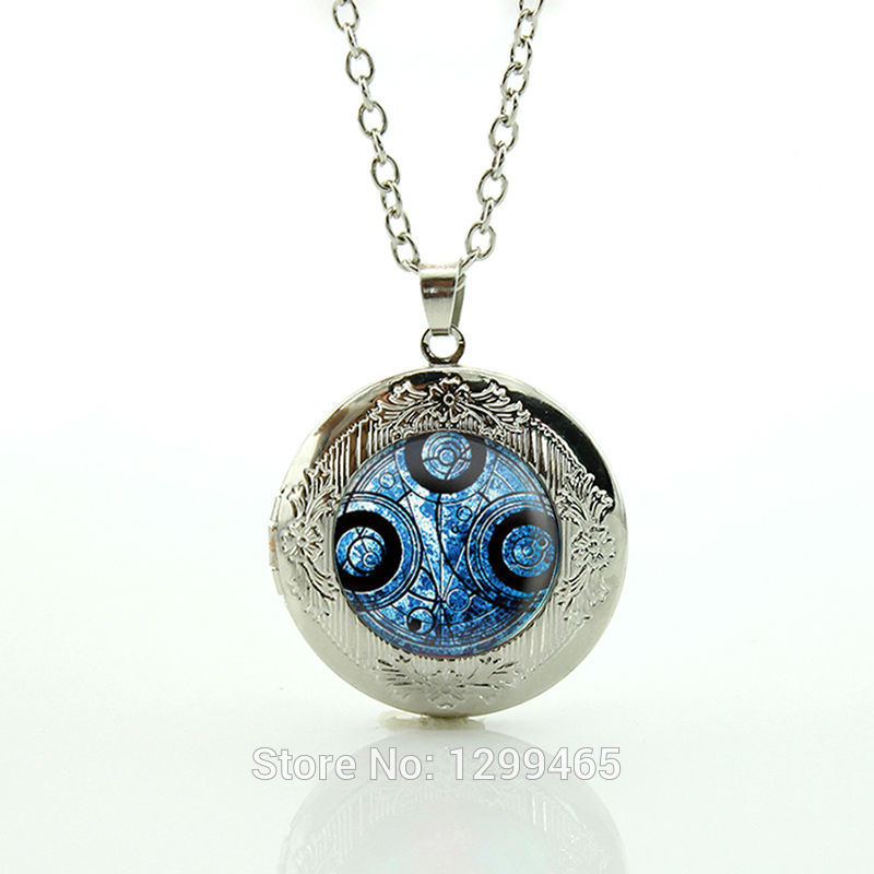 Collier Collares Maxi Necklace Wholesale Doctor Who Time Lord Necklace Dome Machine Jewelry Pendant Glass Cabochon Choker N706