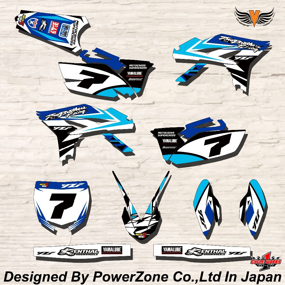 Yamaha bike sticker designs - Wr Yz Yzf 125 250 400 450 Team Graphics Backgrounds Decals Stickers Myr Motor Cross Motorcycle