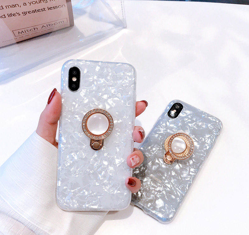 Mr.orange Luxury Flash Diamond Ring Shell for Apple iphone X Mobile Shell iPhone7plus/8/ ...