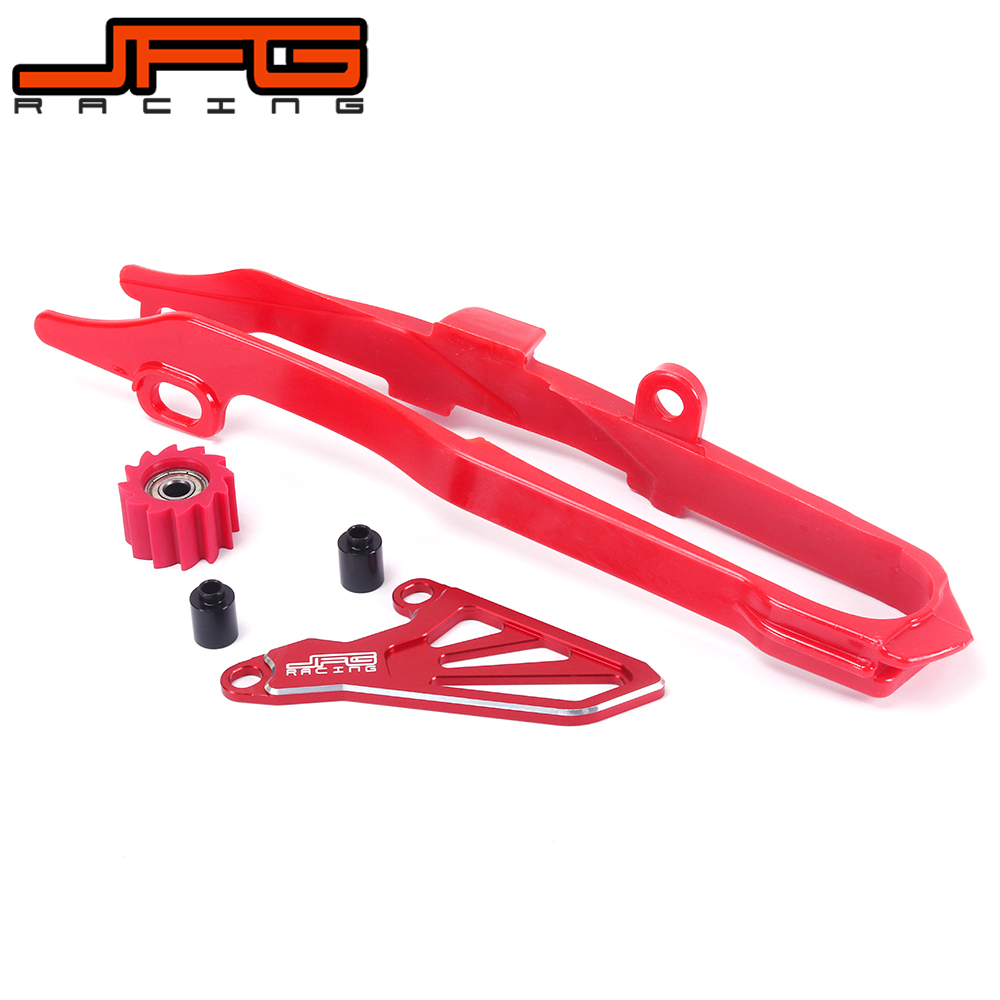 Red Chain Slider & Roller CNC Front Sprocket Drive Cover Guard For CR250R 02 07 CRF250R 04 05 06 07 08 09 CRF250X 04 13 CRF450R