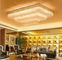 Living room ceiling lamp living room crystal lamp rectangle new atmosphere led ceiling lamp living room dining room bedroom